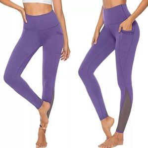 Mesh Yoga Leggings with Pocket